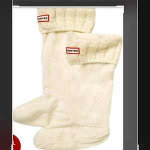 Hunter Cable Stitch Boot Sock. New XL